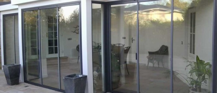 external folding sliding glass doors